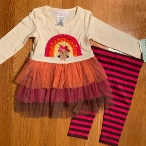 BONNIE JEAN Baby 12months Thanksgiving Outfit NWT
